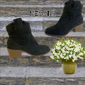 Merona black textile Ankle boot